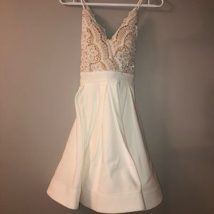 White lace top dress(free shipping) from Honey
